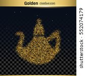 gold glitter vector icon | Shutterstock .eps vector #552074179