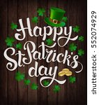 happy st. patrick's day. vector.... | Shutterstock .eps vector #552074929