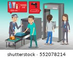 check baggage before boarding.... | Shutterstock .eps vector #552078214