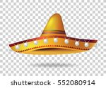 Mexican Sombrero Hat. Vector