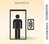 flat elevator icon. vector | Shutterstock .eps vector #552085990