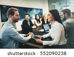 business meeting and... | Shutterstock . vector #552090238