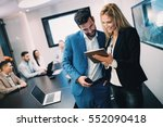 business meeting and... | Shutterstock . vector #552090418
