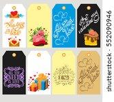 set labels for decoration of...   Shutterstock .eps vector #552090946
