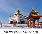 """Small photo of Buddhist temple """"Golden Abode of Buddha Shakyamuni"""". Elista, Republic of Kalmykia, Russia."""