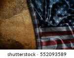 usa flag vintage background | Shutterstock . vector #552093589