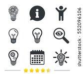 light lamp icons. lamp bulb... | Shutterstock .eps vector #552096106