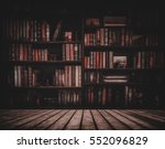 blurred image many old books on ... | Shutterstock . vector #552096829
