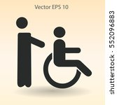 disabled vector illustration   Shutterstock .eps vector #552096883