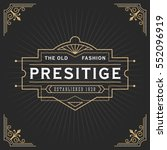 vintage line frame design for... | Shutterstock .eps vector #552096919