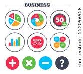 business pie chart. growth... | Shutterstock .eps vector #552096958
