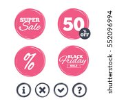 super sale and black friday... | Shutterstock .eps vector #552096994