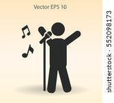 singer vector icon | Shutterstock .eps vector #552098173