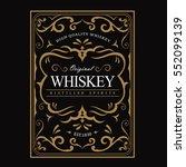 whiskey label vintage frame... | Shutterstock .eps vector #552099139