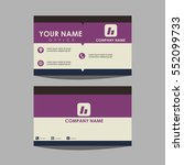 layout template id card and... | Shutterstock .eps vector #552099733