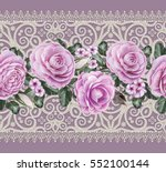 lace background. abstract... | Shutterstock . vector #552100144