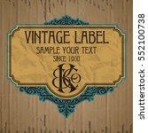vector vintage items  label art ... | Shutterstock .eps vector #552100738
