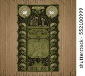 vector vintage items  label art ... | Shutterstock .eps vector #552100999
