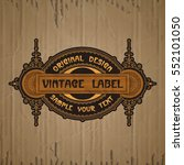 vector vintage items  label art ... | Shutterstock .eps vector #552101050