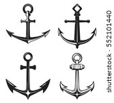 set of anchors icons isolated...   Shutterstock .eps vector #552101440