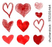 set  of hand drawn hearts... | Shutterstock .eps vector #552101464
