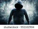 killer wearing hoodies movies...   Shutterstock . vector #552102904
