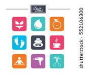 spa  hairdressing icons.... | Shutterstock .eps vector #552106300