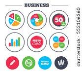 business pie chart. growth... | Shutterstock .eps vector #552106360