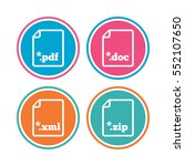 download document icons. file... | Shutterstock .eps vector #552107650