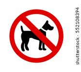 no dogs sign | Shutterstock .eps vector #552108394