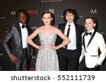 Small photo of LOS ANGELES - JAN 8: Caleb McLaughlin, Millie Bobby Brown, Finn Wolfhard, Noah Schnapp at the Weinstein Golden Globes After Party at Beverly Hilton Hotel on January 8, 2017 in Beverly Hills, CA