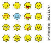 emoji icon set  star shaped... | Shutterstock .eps vector #552113764