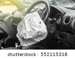 Small photo of Airbag exploded at a car accident,Car Crash air bag,Airbag work