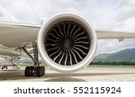 Turbine Of Engine Airplane In...