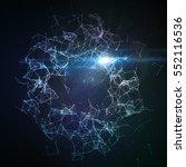 abstract vector illuminated... | Shutterstock .eps vector #552116536