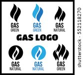 gas industry logos  icons set.... | Shutterstock .eps vector #552118270