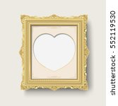 vintage gold picture frame   Shutterstock .eps vector #552119530