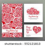 set of 3 cards or banners for...