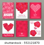 set of 6 cards or banners for... | Shutterstock .eps vector #552121870