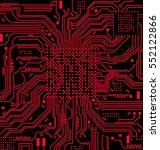 high tech circuit board vector...   Shutterstock .eps vector #552122866