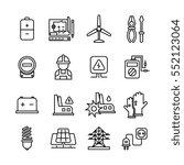 electricity industry ... | Shutterstock .eps vector #552123064