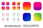 app icon template. vector... | Shutterstock .eps vector #552123973