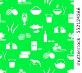asian food theme set of simple... | Shutterstock .eps vector #552124366