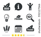 natural fresh bio food icons.... | Shutterstock .eps vector #552127066