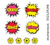 comic boom  wow  oops sound... | Shutterstock .eps vector #552129298