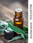 Sage Essential Oil And Fresh...