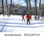 cross country skiing   Shutterstock . vector #552134713