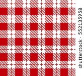 red and white tablecloth... | Shutterstock .eps vector #552135958