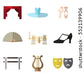 set of simple theater and... | Shutterstock .eps vector #552139906