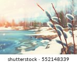 Spring Bright Landscape With...